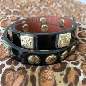 Rustic Cuff set of 3 leather wraps